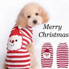 CHRISTMAS Dog Jumper Coats Winter Knitted Small Dog Pet Cat Puppy Sweaters Red