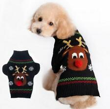CHRISTMAS Dog Jumper Coats Winter Knitted Small Dog Pet Cat Puppy Sweaters