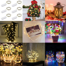 6PCS 20LEDs Battery Copper String Fairy Lights Lamp Christmas Outdoor Decoration