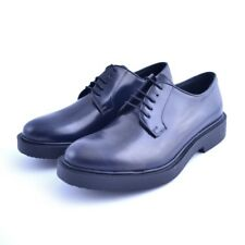 Scarpe classiche shoes Soldini uomo man pelle leather blu lacci made in italy