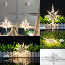 8LED Battery Powered Fairy Sucker String Lights Festival Party Window Decoration