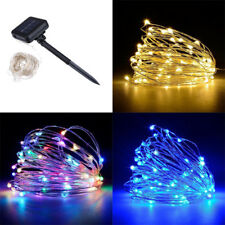 100/200LEDs Solar Powered LED Copper Wire String Lights Christmas Outdoor Decor