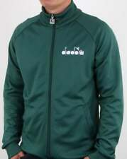 Diadora 80s Track Top in Posy Green - funnel neck tracksuit jacket retro 80s 90s