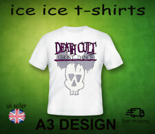 DEATH CULT - GHOST DANCE  - PUNK   -  ADULT WHITE T-SHIRT FRUIT OF THE LOOM