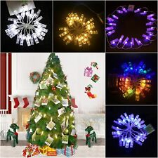 20LEDs Fairy String Lights Battery Powered Peg Photo Clip Hanging Picture Decor