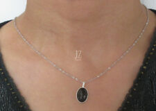Black Onyx S/Silver Pendant Necklace S/Silver Chain. Pearl & Onyx Bracelet Studs
