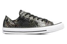 Mujer Converse Chuck Taylor All Star Fashion Snake Ox Deportivas Negro - Talla