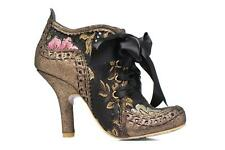 Mujer Irregular Choice Abigail's Third Party Zapatos Con Cordones Oro Y Bronce -