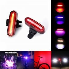 USB COB Rechargeable Flash Rear Tail LED Light Lamp Bike Bicycle Warning Outdoor