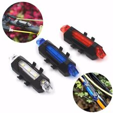 5LED USB Rechargeable Bicycle Rear Tail Light Lamp Bike Cycling Safe Accessory
