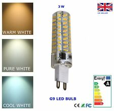 G9 LED Bulb 3W Dimmable Warm Pure Cool White 220V AC Energy Saving =~25W Halogen