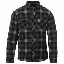 Lee Cooper Boys lined quilted padded long sleeve shirt grey/black check BNWT