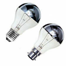 2x Crown Silver Top Reflector Dimmable GLS Light Bulb 100W