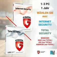 G Data Internet Security 2018 1 3 PC 1 Jahr VOLLVERSION Gdata Total Protection