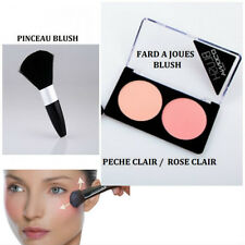FARD A JOUE BLUSH DOUBLE PALETTE PECHE ROSE MAKE UP NEUF MAC050 / PINCEAU BLUSH