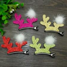 4pcs/lot Christmas Dog Hair Clips Hairpins Elk Antlers Xmas Grooming Accessories