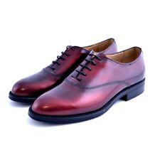 Scarpe stringate shoes Soldini donna woman pelle leather bordeaux made in italy