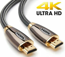 Braided Ultra HD 4K HDMI Cable v2.0 + Ethernet HDTV 2160p CHROME
