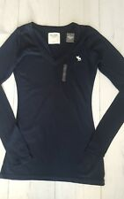 ABERCROMBIE & FITCH WOMEN'S LONG SLEEVE CLASSIC V-NECK T SHIRTS  [BNWT]