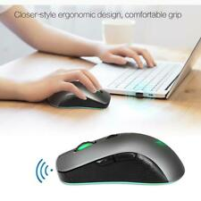 Mouse wireless da gioco ottico 2.4Ghz Mouse 2400 DPI con LED per PC