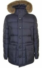 New AW17 Moncler 'CLUNY' Down Hooded Fur Parka Jacket - Navy