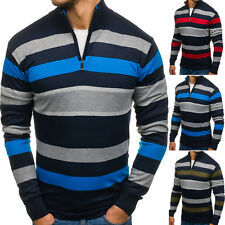 BOLF Herren Pullover Sweater Strickpullover Strickjacke Gestreift Men 5E5 Motiv