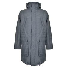 GENUINE Mens DKNY Light Grey Longline Goose Down Parka Coat Jacket Size RRP £575