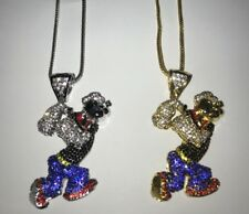 Popeye Icy Chain Iced Pendant Necklace Shine Shiny Bling Bling Jewel