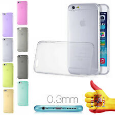 FUNDA EN GEL SILICONA TRANSPARENTE PARA APPLE IPHONE 6S 6  ULTRA FINA