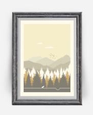Parks & Recreation - Pawnee National Park Art Poster Print Minimalist Poster