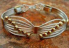 BUTTERFLY Bracelet, Sterling Silver with Gold Beads