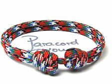 mujeres-hombres-niños Paracord armband-afghan vet-surfer Pulsera ajustable