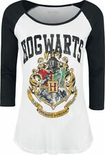 Harry Potter Hogwarts Manica lunga donna bianco/nero