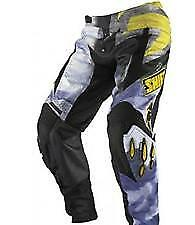 SHIFT FACTION CAMO BLACK YELLOW  MOTOCROSS TROUSERS OFF ROAD SIZE 28 30 32