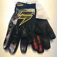 SHIFT FACTION MOTOCROSS GLOVES BLACK BMX MTB ATV OFF ROAD SIZES S M L XL XXL NEW