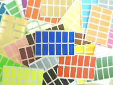 25x12mm Rectangulo Pegatinas De Color Rectangular Etiquetas Adhesivas 36 COLORES