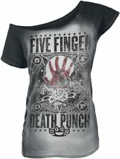 Five Finger Death Punch Punchagram Maglia donna nero/bianco