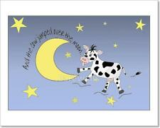 Cow Jumping Over The Moon Art Print Home Decor Wall Poster C