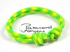 mujeres-hombres-niños Paracord armband-dayglow-surfer Pulsera ajustable