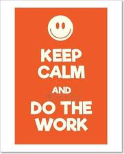 Keep Calm And Do The Work Poster Art Print Home Decor Wall Art Poster - C