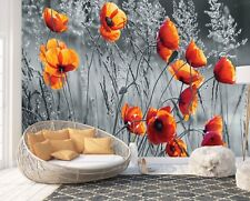Wall Mural Photo Wallpaper Picture EASY-INSTALL Fleece Poppy Flowers Giant Image
