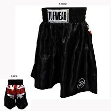 Tuf Wear Mens Uni Jack Satin Pro Short Black White Red