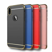 Luxury 3 in 1 Electroplated Hybrid Back Case Cover For Apple iPhone X (10 TEN)