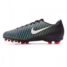 Junior Nike Mercurial Vapor XI FG Black White Green Football Boots