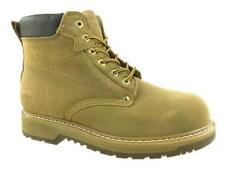 Mens Safety Leather Suede Ankle Work Goodyear Welted Oil Resistant Boots UK 8-13
