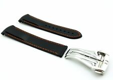 Black Rubber/Silicone Strap/Band for Omega SeaMaster/SpeedMaster 20/22mm + Clasp