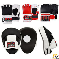 Boxing MMA Gloves Grappling Punching Bag Training Martial Arts Sparring UFC Set