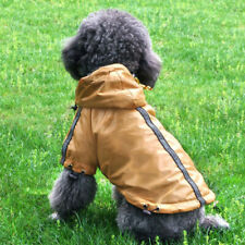 Reflective Fleece Lined Raincoat Jacket Poncho for Small Dog Pet Clothes XS-XXL