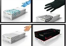 DISPOSABLE GLOVES NON LATEX & POWDER FREE Clear Black Blue NITRILE or VINYL