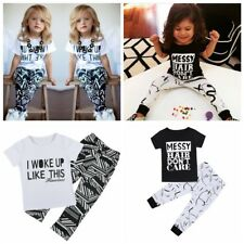 Toddler Baby Kid Girls Clothes Tops T-shirt Camouflage Pants Outfits 2PCS Set
